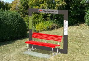Fotomontage Entwurf Wanderbank