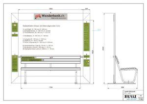 Grafische Vorbereitung der Wanderbank